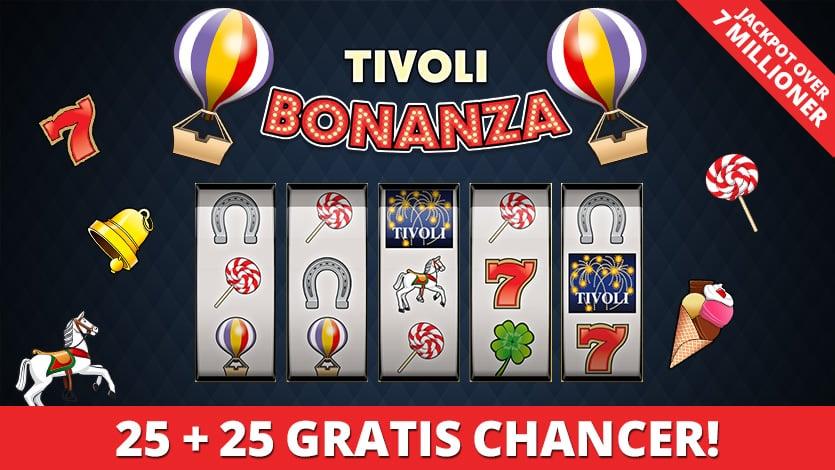 Få 50 gratis free spins hos Tivoli Casino