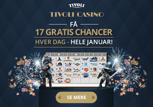 17 gratis spins hos Tivoli Casino hele januar
