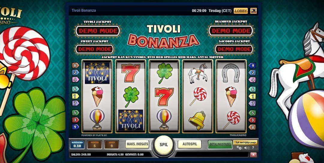 Tivoli Bonanza giver gratis free spins