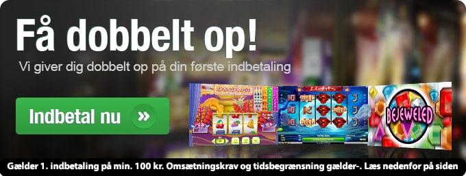 Casinosjov – Få dobbelt op på første indbetaling