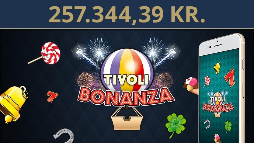 Tivoli Casino spiller vandt 257.344,39 kr. på mobilen