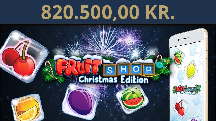 Vandt 820.500,00 kr på Fruit Shop Christmas Edition!