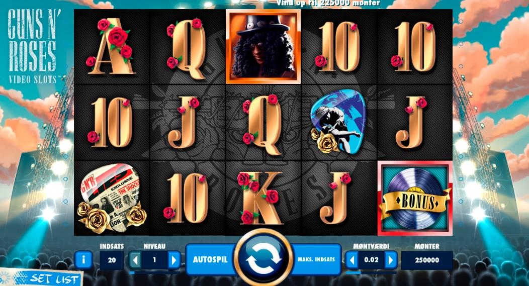 RoyalCasino spiller vandt 33.550 kr. på Guns N' Roses