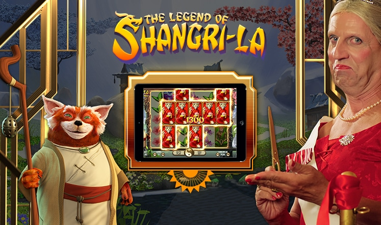 100 gratis spins på The Legend of Shangri-La spilleautomat