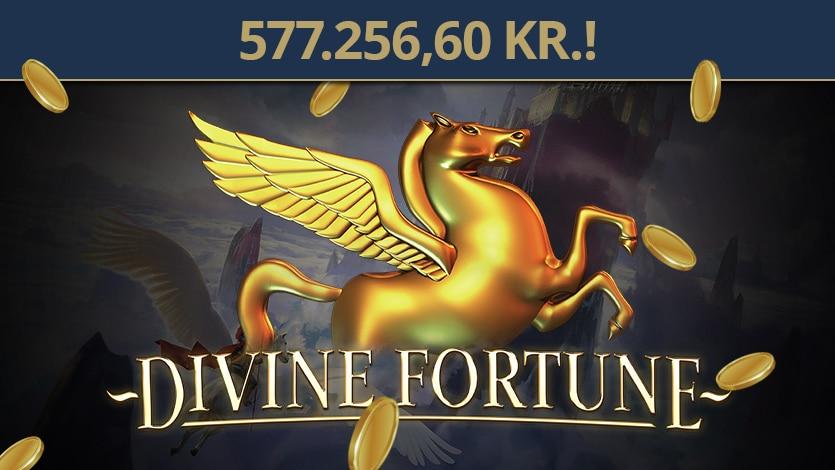 Divine Fortune jackpot på 557.256 kr. vundet på Tivoli Casino