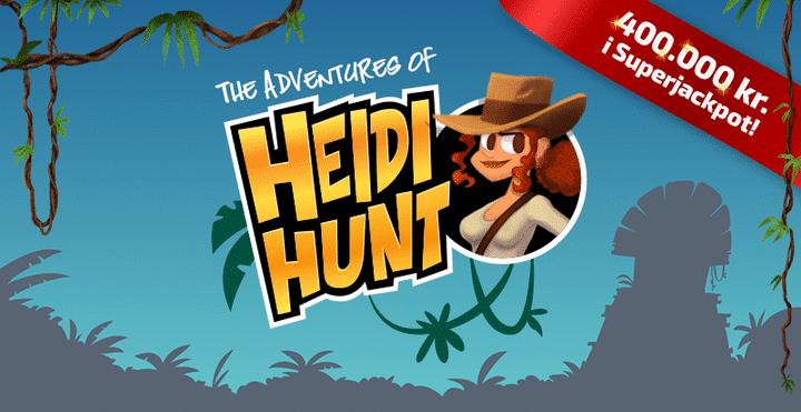 400.000 kr. i Superjackpot  på Heidi Hunt automaten
