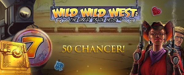 Få 50 gratis chancer til Wild Wild West