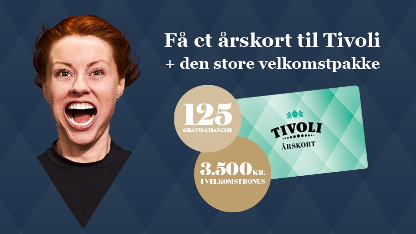 Vind et årskort til Tivoli + 125 Gratis Chancer