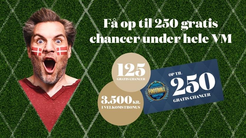 375 Gratis Chancer i Casino VM kampagne