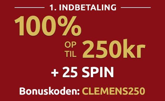 Clemens Spillehal bonuskode 2020