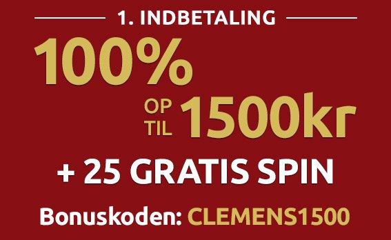 Clemens Spillehal bonuskode 2018