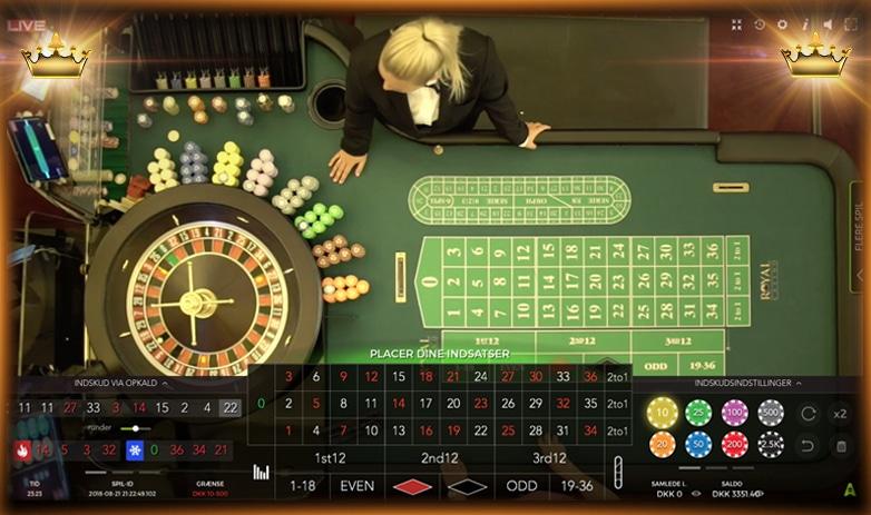 Live Roulette direkte fra Royal Casino i Aarhus