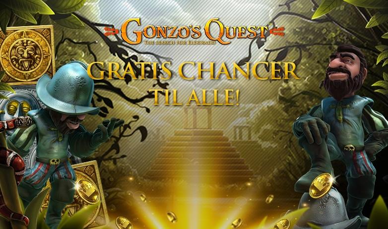 Gratis Chancer til Gonzos Quest