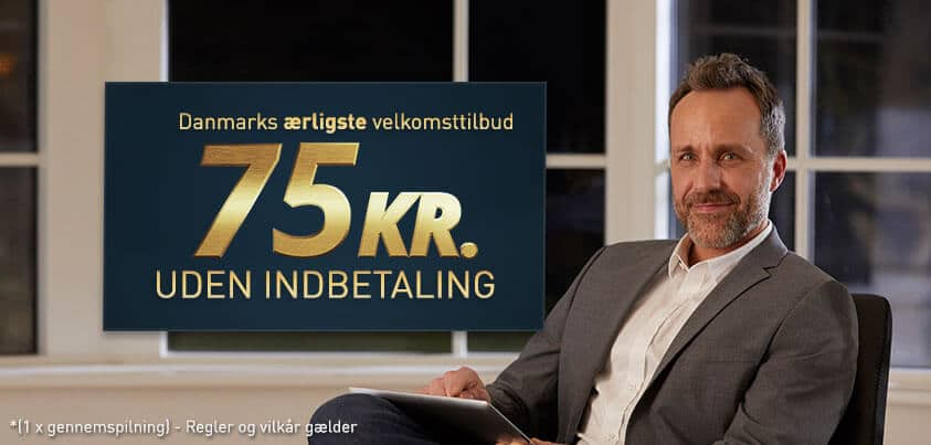 Danmarks ærligste velkomsttilbud uden indbetaling