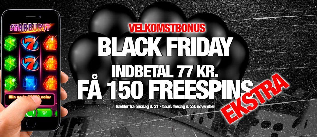 Black Friday casino velkomstbonus