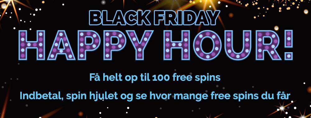 Få 100 free spins på Black Friday