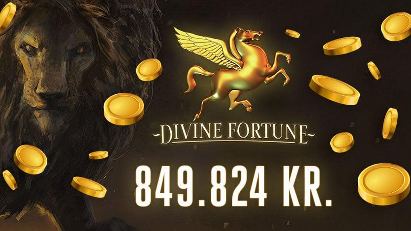 Vandt 850.000 kroner på Divine Fortune