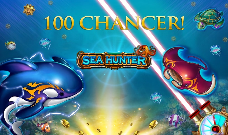 Få 100 Gratis Chancer til Sea Hunter