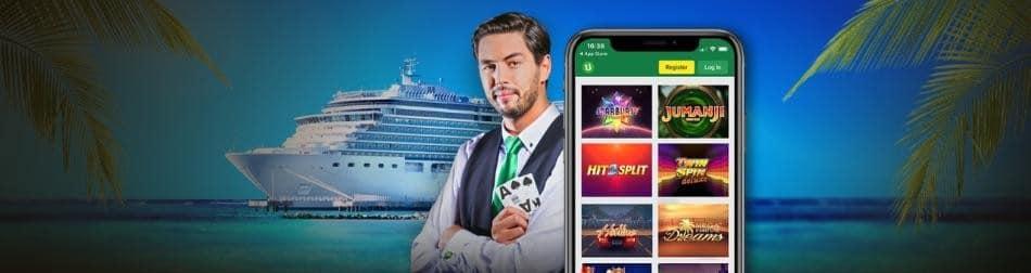 Vind et krydstogtskib i Caribien og spil casino