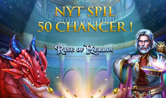 Få 50 Chancer til spillet Rise of Merlin