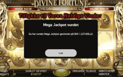 Mega Jackpot vundet på 777.dk