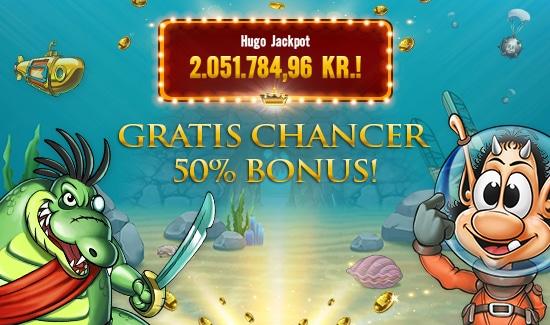 Gratis free spins og bonus til Hugo-spil