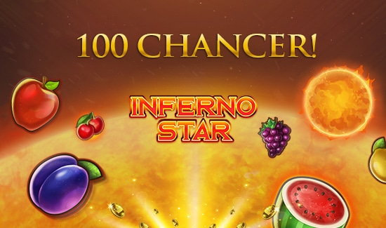 Få 100 free spins til Inferno Star