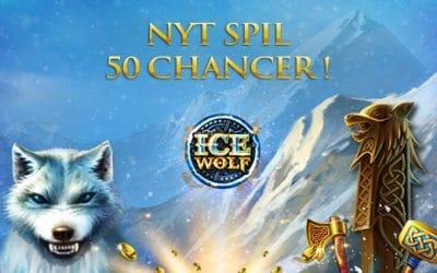 Prøv spilleautomaten Ice Wolf og få 50 free spins