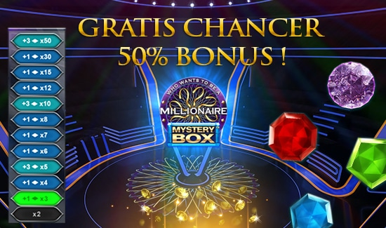 Gratis bonus til Millionaire Mystery Box