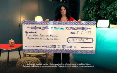 Millionær for 5 kroner på Casumo casino