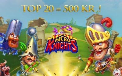 Micro Knights turnering og gratis chancer