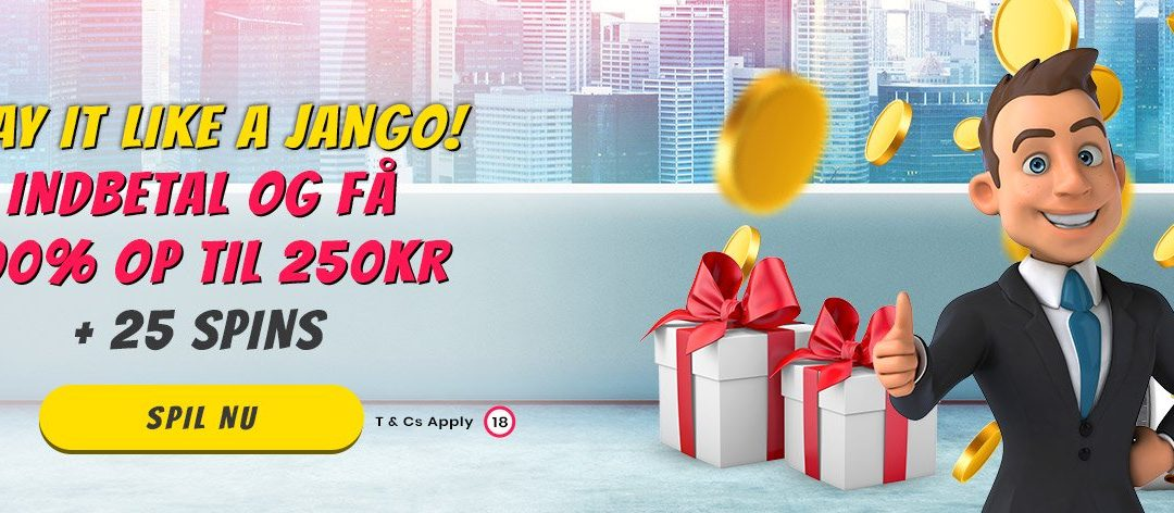 Playjango velkomstbonus: Få 50 bonusspins + 250 kroner