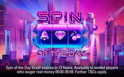 Spin of the day hos pokerstars casino