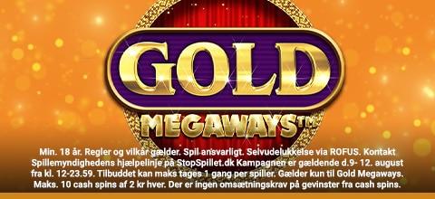 Cash freespins til Gold Megaways